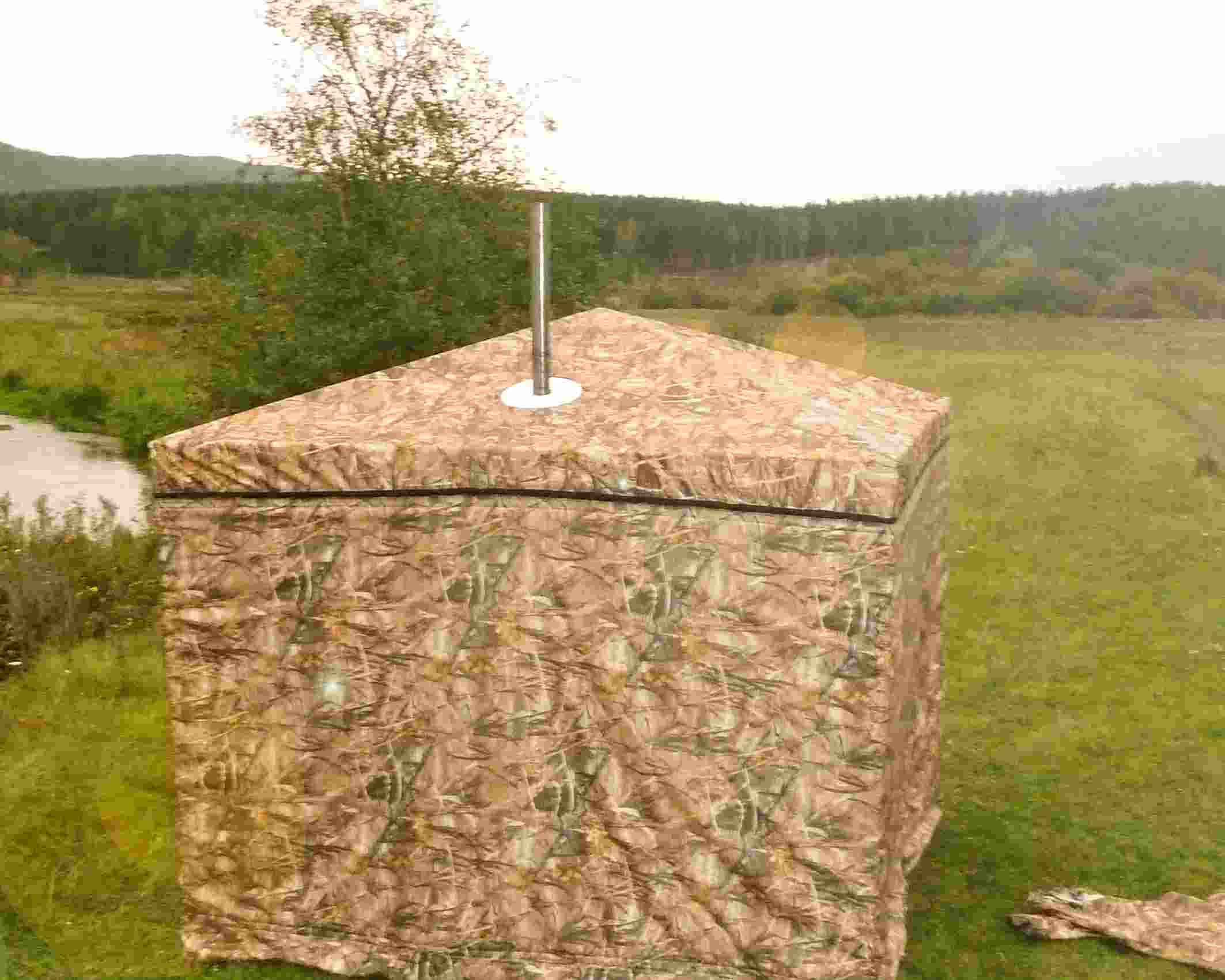 Как сделать баню из палатки на природе